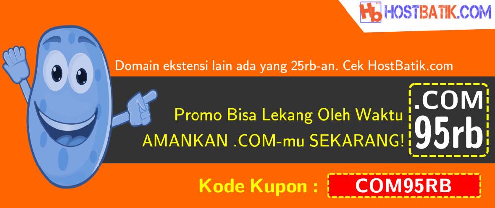 Promo Domain .COM hanya 95rb